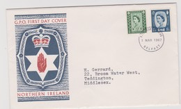 Great Britain -Regional Issues Northern Ireland 1967 Machins,FDC - FDC