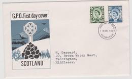 Great Britain -Regional Issues Scotland 1967 Machins,FDC - FDC