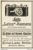 Original-Werbung/ Anzeige 1926 - LEITZ LEICA KAMERA - WETZLAR - Ca. 65 X 100 Mm - Pubblicitari