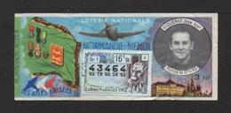 NORMANDIE - NIEMEN . 1962 . Piquenot Jean . - Billets De Loterie