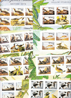 BHUTAN Imperforated Stamps Sheetlets 1985 Audubon Birds Oiseaux Scott 506 - 513, 8 Values MNH IMPERF Bhoutan - Bhoutan