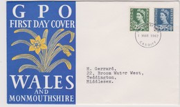 Great Britain -Regional Issues Whales 1967 Machins,FDC - FDC