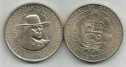 Peru 5 Soles De Oro 1971. Tupac Amaru High Grade - Peru