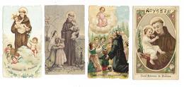 Santini Santino Immagine Religiosa Sant'antonio Da Padova 4 Differenti Immagini Del Santo Padova Veneto (v.retro) - Religione & Esoterismo