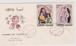Libya 1968 Children Day FDC - Libya