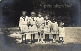 Cp Beide Söhne Des Kronprinzen Rupprecht Und Töchter Des Herzogs Von Calabrien - Familles Royales