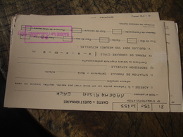 Lopt De 3 Carte 2 Volets Service Militaire Franchise Militaire Carte Questionnaire - 1961-....