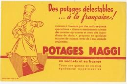 Buvard POTAGES MAGGI - Potages & Sauces