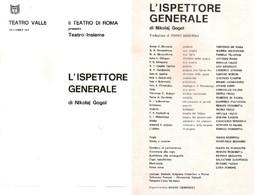 TEATRO VALLE ROMA RARO LIBRETTO TEATRALE L'ISPETTORE GENERALE - 1973 N. GOGOL - Teatro, Travestimenti & Mascheramenti