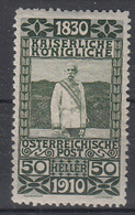 OOSTENRIJK - Michel - 1910 - Nr 172 - MH* - Unused Stamps