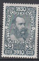 OOSTENRIJK - Michel - 1910 - Nr 171 - MH* - Unused Stamps
