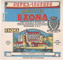 Buvard BISCOTTES EXONA - ESSONNES / Château D'AMBOISE-sur-la-LOIRE - Biscottes