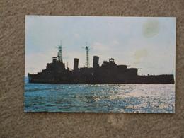 HMS BELFAST OFF SPITHEAD 2/9/1971 - Warships