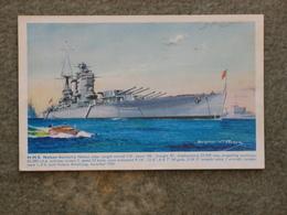 HMS NELSON - BERNARD CHURCH SALMON CARD - Warships