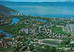 Trondheim Trondheim Flyfoto Med Lerkendal Stadion I Forgrunnen Luftbild-AK 1975 - Norwegen