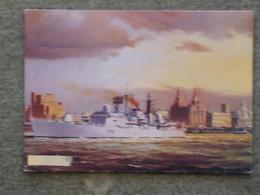 HMS LIVERPOOL - ARTIST CARD - Warships