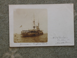 WARSHIP AT ANCHOR PU 1905 - Warships