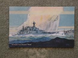 HMS HOOD - BATTLECRUISER - SALMON ART CARD - Warships
