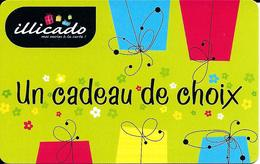 Carte Cadeau - Illicado - Ancien Logo -  Flash Code à Droite  - Gift Card - Cartes Cadeaux