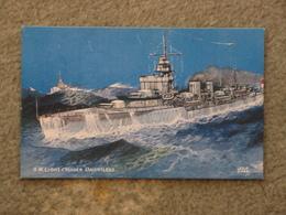 HMS DAUNTLESS - SALMON ART CARD - Warships