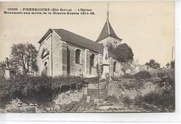 70 - PIERRECOURT  ( Hte-Saône ) - L' Eglise. Monument Aux Morts De La Grande Guerre 1914-18 - Autres Communes