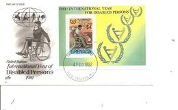 Handicapés ( FDC De Grenade De 1982 Avec BF à Voir) - Handicap