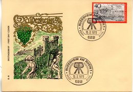 """BRD Schmuck-FDC """"Rüdesheim Am Rhein"""", Mi. 762 ESSt 15.3.1973 RÜDESHEIM AM RHEIN 1 - [7] République Fédérale"""