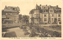 La Panne NA124: Les Pensions Au Square Albert 1938 - De Panne