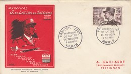 FDC 1952 DE LATTRE DE TASSIGNY - FDC