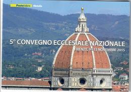 ITALIA 2015 - FOLDER 5° CONVEGNO ECCLESIALE NAZIONALE - SENZA SPESE POSTALI - 6. 1946-.. Repubblica
