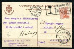 Z1424 ITALIA REGNO 1924 Camera Dei Deputati Cartolina Postale  Affrancata Con Michetti 30 C.30 Spedita Dall'on. Venino, - Poststempel