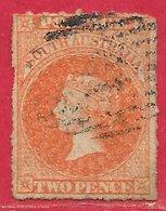 Australie Du Sud N°6 2p Vermillon Clair 1859-67 O - Used Stamps