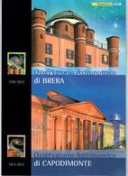 ITALIA 2012 - FOLDER OSSERVATORIO ASTRONOMICO BRERA  - SENZA SPESE POSTALI - 6. 1946-.. Repubblica