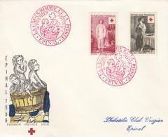 ENVELOPE 1° JOUR 1956 EPINAL CROIX ROUGE N° 1089-1090 - 1921-1960: Periodo Moderno