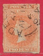 Australie Du Sud N°6 2p Vermillon Clair 1859-67 (ADELAIDE 15 AP 67) O - Used Stamps