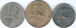 Uzbekistan - 2000 - 1 & 2001 - 5 & 10 So'm (KMs 12-14) - Uzbekistan