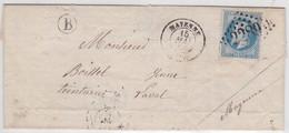 """LSC - N°29A OBL. GC De MAYENNE + """"B"""" De COMMER - 1849-1876: Période Classique"""