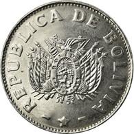 Monnaie, Bolivie, 50 Centavos, 1991, SUP, Stainless Steel, KM:204 - Bolivie
