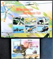 # Antigua & Barbuda 2007**Mi.4507-13 Helicopter , MNH[13;125] - Hubschrauber