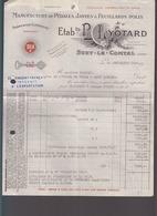 Loire / Sury Le Comtal / Pédales Pour Vélo / P.Lyotard / Facture 1947 - France