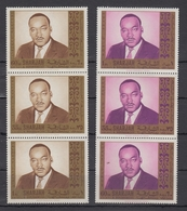 Sharjah / UAE  Martin Luther King 6v MNH.# 18464  D - Martin Luther King