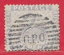 Australie Occidentale N°36 6p Violet (filigrane CA, Dentelé 14) 1865-69 (signé Kurt Maier, Berlin) O - Oblitérés
