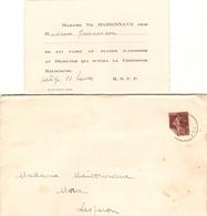 2 Faire-parts De Mariage + Cdv, Jane Maisonnave, De Rion (40) épouse Le Dr Jean Hirigoyen De St-Vincent De Tyrosse, 1933 - Wedding