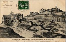 75 .. PARIS .. MONTMARTRE  .. VUE DE L'ABBAYE DE MONTMARTRE .. 1909 - Sacré Coeur