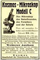 Original-Werbung/ Anzeige 1928 - KOSMOS MIKROSKOP / MODELL C / FRANCKH - STUTTGART  - Ca. 65 X 100 Mm - Werbung