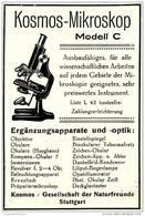 Original-Werbung/ Anzeige 1928 - KOSMOS MIKROSKOP MODELL C / FRANCKH - STUTTGART - Ca. 65 X 110 Mm - Werbung