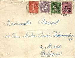 1929- Env. De Paris Pour La Belgique Affr. à 1,50 F Dont N° 253 Et 254 Caisse D'Amortissement - Storia Postale