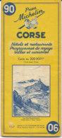 Carte Michelin N°90 Corse 1958 - Cartes Routières