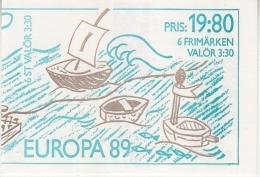 Europa Cept 1989 Sweden Booklet ** Mnh (42596) - 1989