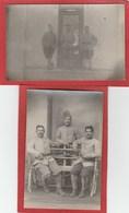 Guerre 1914-1918 - Mission Berthelot (?) Bucarest - Roumanie - Militaires Français, Lot De 2 Cartes Photos - Roumanie